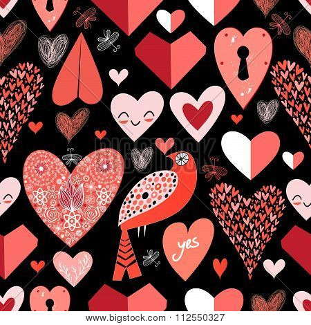 Pattern Of Bright Hearts