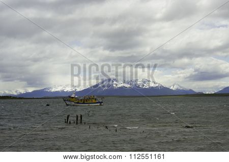 Boat In Puerto Natales, Chile