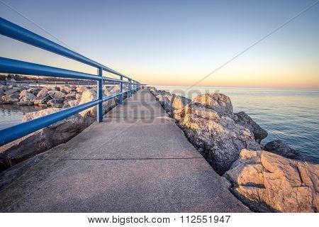 Summer Evening Stroll On The Coast