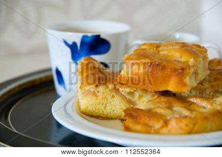 Apple Pie With Coffee Cups