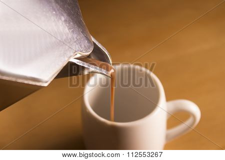Typical Italian Moka For Coffee Serving Coffee