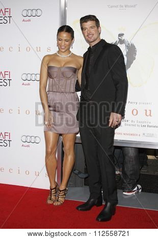 Paula Patton and Robin Thicke at the AFI FEST 2009 Screening of