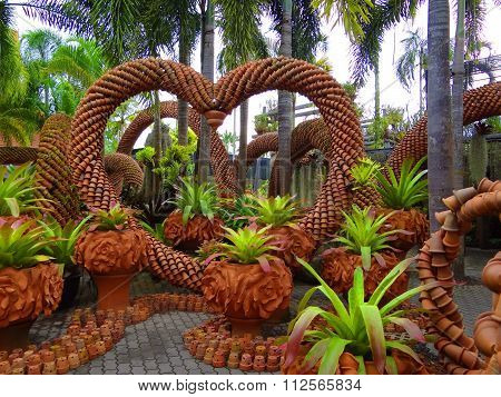 heart of clay pots in the Park Thailand