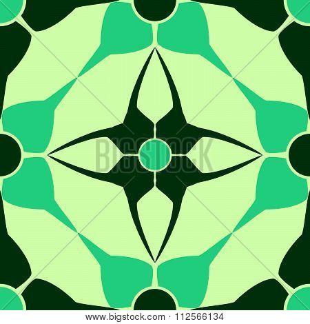 Accurate Geometric Blue Pattern