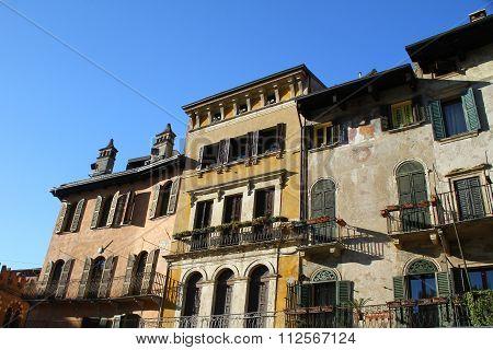 Verona, home on Erbe Square. Italy