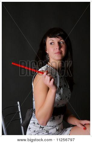 Woman-pen