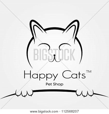 Vector cat logo