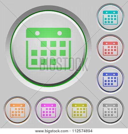 Hanging Calendar Push Buttons