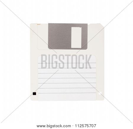 Floppy Disk - Tachnology From The Past, Isolated On White