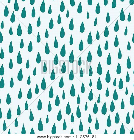 Raindrops Seamless Vector Pattern Background.