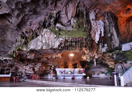 Beautiful Limestone Formations In Kek Lok Tong Cave