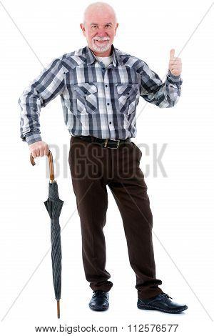 Smiling Portrait of happy senior old man