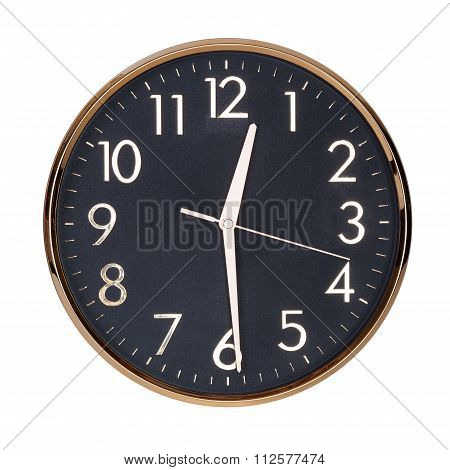 Half Past Twelve On A Clock Face