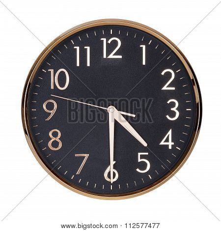 Half Past Four On A Clock Face