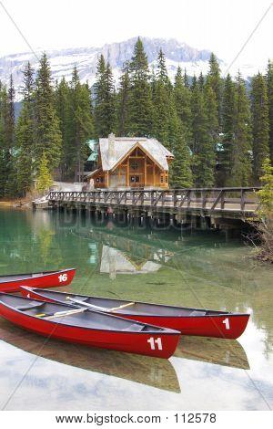 Lago de canoa