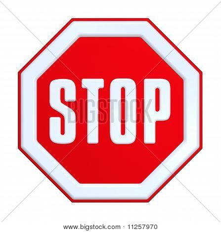STOP sign isolated on white