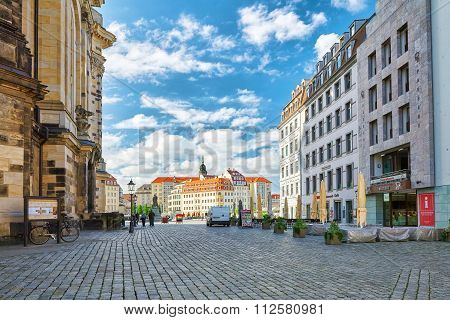 Dresden, Germany-september 08, 2015 :center Of The Dresden Old Town. Dresden Has A Long History As T