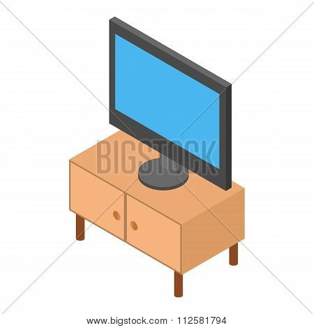 TV on the nightstand isometric