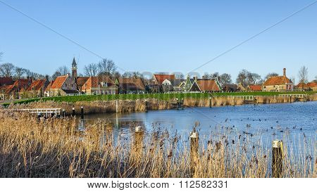 DECEMBER23: View Of Open-air Museum on December 23, 2015 in Enkhuizen, The Netherlands