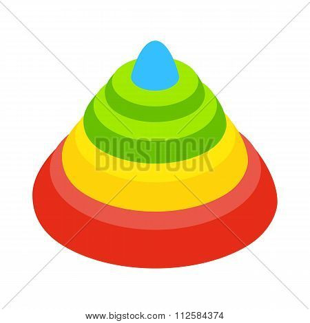 Toy pyramid isometric 3d icon