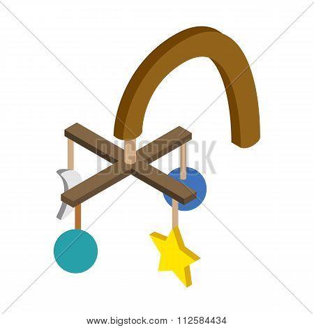 Baby hanging isometric 3d icon