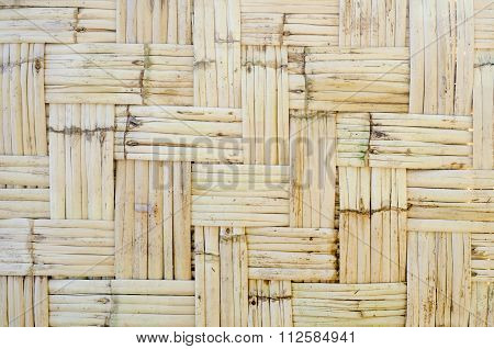 Pattern Of Orthogonal Strips Made Of Reeds For Green Architecture