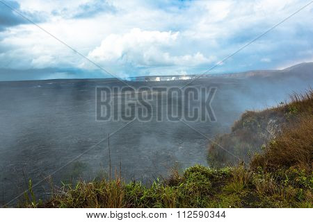 Kilauea Caldera in the Volcanoes National Park, Big Island, Hawaii