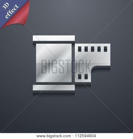 35 Mm Negative Films Icon Symbol. 3D Style. Trendy, Modern Design With Space For Your Text