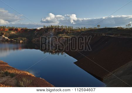 Water Pit In The Abandoned Mine