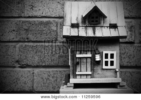 Black and White Birdhouse