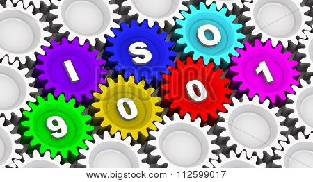 ISO 9001. Abbreviation on the gears