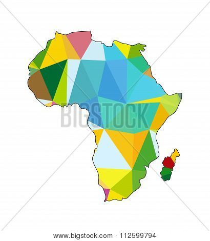 Vector Polygon Africa