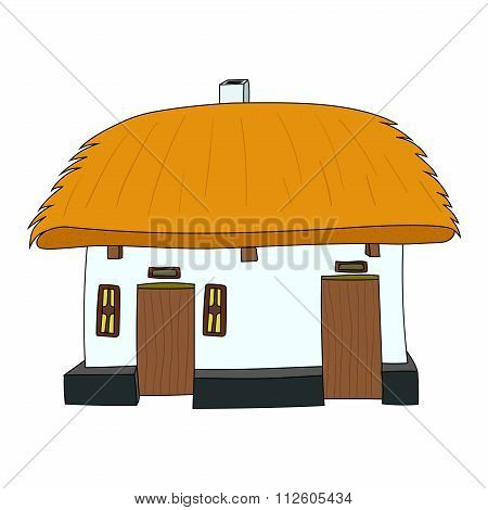 Vector House with thatched roof