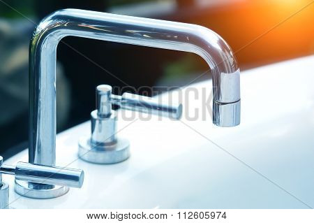 High Spout Faucet In Front