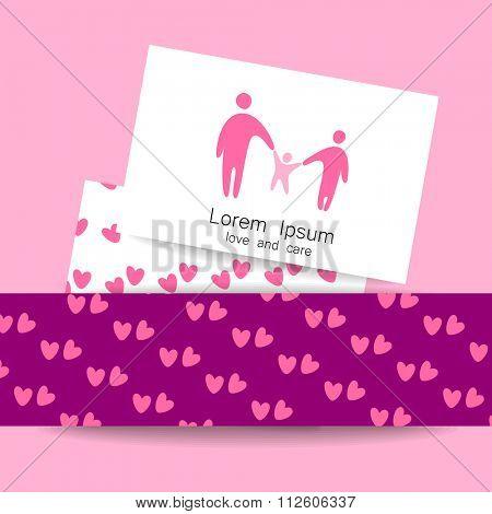 Family love logo, love family, family care logo, family logo, vector logo template