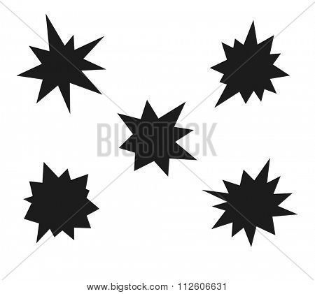 starburst - splash star icon set