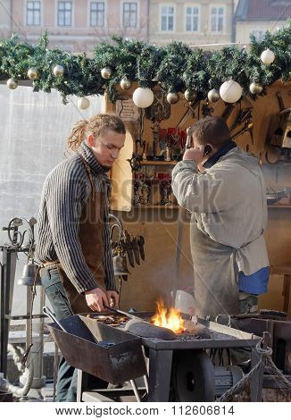 Two Blacksmith Working