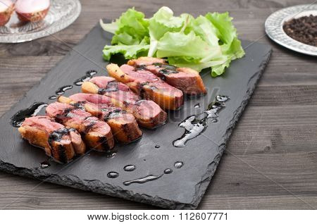 Duck Breast Baked With Honey And Balsamic Vinegar