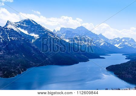 Mount Vimy And Waterton Lake Scenic View