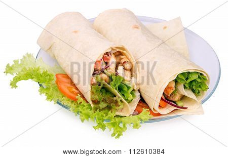 Shawarmas On Lettuce
