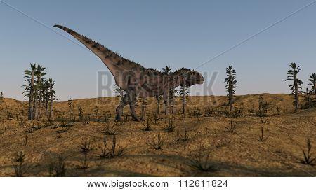 majungasaurus in tempskya