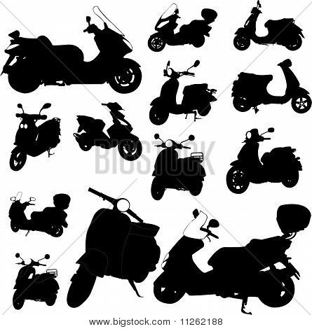 Scooter Motorcycle Vector