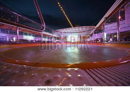 Hot tube in deck of Costa Deliziosa - the newest Costa cruise ship