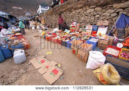 Namche Bazaar Market, Nepal