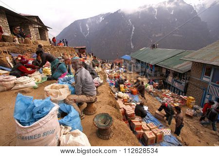 Market, Namche Bazaar Nepal