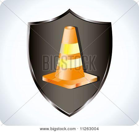cones e escudo
