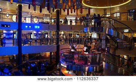 Nightly entertainment on the Carnival Breeze