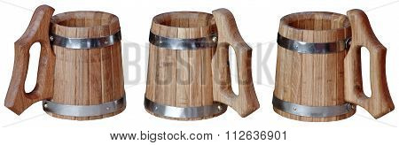 manufacture of wooden barrels in the factory