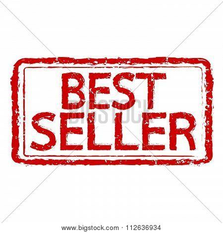 Best Seller Rubber Stamp Text Illustration