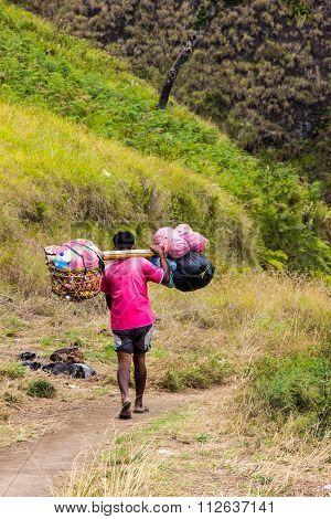 Porters Carrying Heavy Sacks